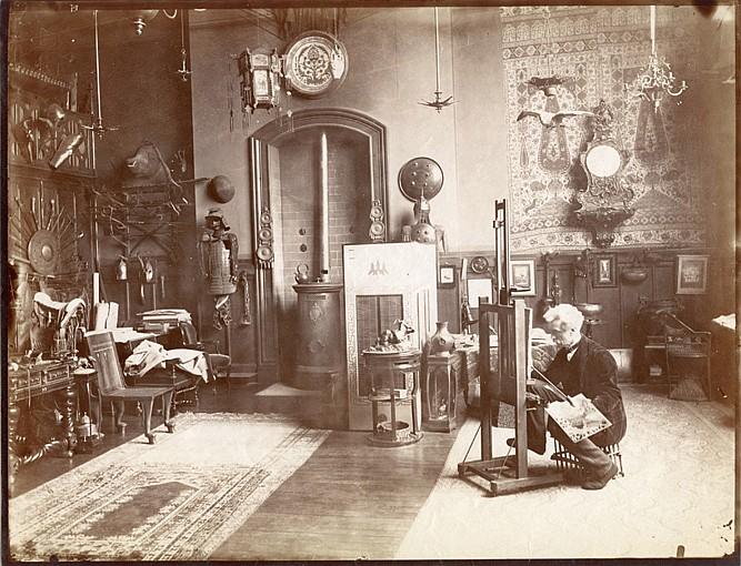 Edmond BÉNARD (1838-1907) Jean-Léon Gérôme (1824-1904) - peintre, années 1880-1900