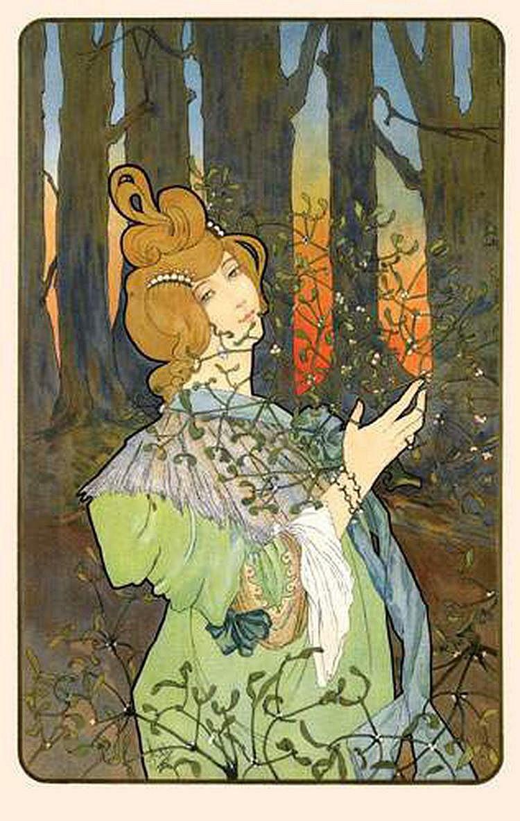 JANE ATCHE, 1880- ? - LE HOUX ET LE GUI