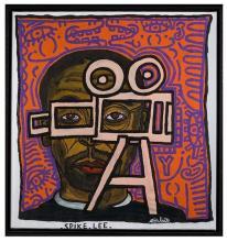 Robert Combas (né en 1957)Spike Lee, 2007