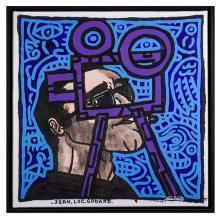 Robert Combas (né en 1957)Jean-Luc Godard, 2007