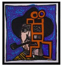 Robert Combas (né en 1957)Jacques Tati, 2007