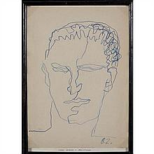 Ossip Zadkine (1890-1967)Tête d'homme