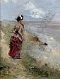 JEAN-LOUIS FORAIN (1852-1931) - PROMENEUSE AU BORD, Jean-Louis Forain, Click for value