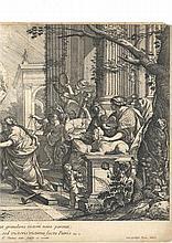 Simon Vouet (1590-1649) (d'après)  Le Vœu de Jephté (Occurrit gratulans victori nata parenti…) 1665