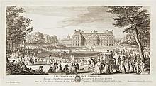 Jacques Rigaud (c.1681-1754) Les Promenades du Luxembourg ; Les Promenades du Palais des Thuileries. 1729. Eau-forte. 440 x 230. Trè...