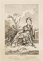 François Boucher (1703-1770) (d'après)  La Rêveuse ; Le Paquet incommode