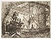Giambattista Piranesi (1720-1778) Prisonniers sur un éperon. (Carceri, pl. X). Eau-forte. 540 x 410. Hind 10 ; Robison 36. Très bell...