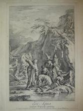 Salvator Rosa (1615-1673) (d'après)  Ecce Aqua… ; Ego sum Vox… Eau-forte par Goupy