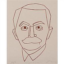Eduardo Arroyo (né en 1937)Le Baron de Coubertin, 1997Lithographie sur papierSigné, daté, titré et numéroté XV / XX en bas60 × 47, 5...