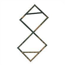 Daniel Dezeuze (né en 1942) Triangulation verte, 1976 Bois souple pleint Signé et daté au dos à droite, sur la partie inférieu...