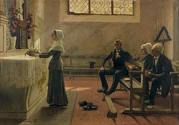 JEAN EUGÈNE BULAND (1852-1927) - L'OFFRANDE