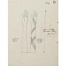 Gio Ponti (1891-1979) Deux dessins Crayon et pastel sur papier Date de création : années 1950 H 21,7 x L 14 cm et DIMENSIONS...