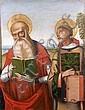 Domenico PANETTI (Ferarre vers 1460 - ? avant 1513) Saint Jérôme et saint Laurent