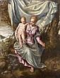 École VÉNITIENNE du début du XVIIe siècle, entourage de Domenico TINTORETTO Vierge à l'Enfant