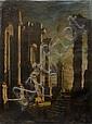 Léonardo COCCORANTE (Naples 1680-1750) Ruines antiques Paire de toiles, sur leur toile d'origine 210 x 160 cm (Accidents)...