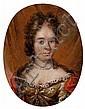 École HOLLANDAISE du XVIIe siècle Portrait de femme au collier de perles Cuivre 5,5 x 4,5 cm