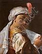 Domenico MAGGIOTTO (Venise 1713-1794) Jeune enfant au turban Toile 55 x 43 cm Maggiotto est l'élève de Giovanni-Battista Piazzetta, ..