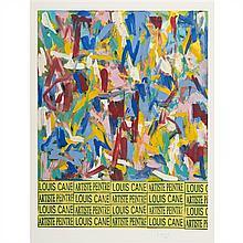 Louis Cane (né en 1943, vit et travaille à Paris) Louis Cane, Artiste Peintre Lithographie sur papier Signé en bas à droite...