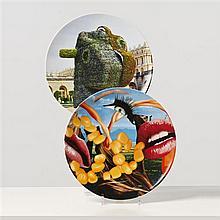 Jeff KOONS (né en 1955, vit et travaille à New York) Lips, 2012 Split-Rocker, 2012 Sérigraphie sur assiette en porcelaine ...