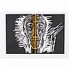 Mimmo PALADINO (né en 1948, vit et travaille à Benevento, Italie) Sans titre Lithographie Signée et numérotée 127/300 en bas..., Mimmo Paladino, €200