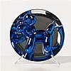 Jeff KOONS (né en 1955, vit et travaille à New York) Balloon Dog (Bleu), 2002 Assiette en porcelaine métalisée Édition numér...