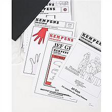 Jef GEYS (né en 1934, il vit et travaille à Balen, Belgique) Kempens Informatieblad (Front Cover), 2012 45 planches: impressio...