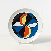 Sonia Delaunay (1885-1979) Windsor Assiette Porcelaine Signée et numérotée 719/900 Édition Artcurial Date de création :...