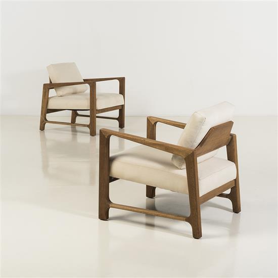 Harvey Probber (1922-2003)Paire de fauteuils