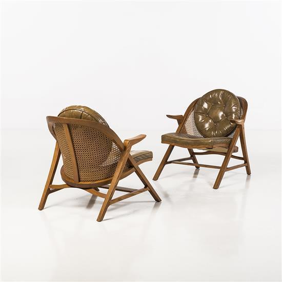 f Edward Wormley (1907-1995)Paire de fauteuils