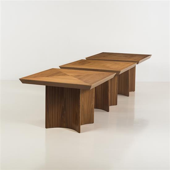 Vladimir Kagan (1927-2016)Ensemble de trois tables
