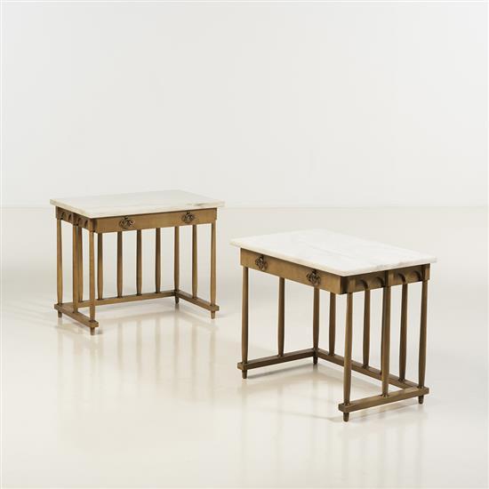 f Renzo R. Rutili (1901-1966)Paire de tables d''appoint