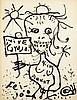 Samuel FEIJÓO (1914-1992)La filosofa (vive carajo), 1966 Encre sur papier cartonné signé en bas à gauche, contresigné, daté et titré au