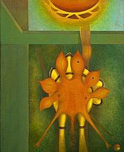 Roberto ALVAREZ RIÓS (né en 1932) Oiseau fleur, 1981