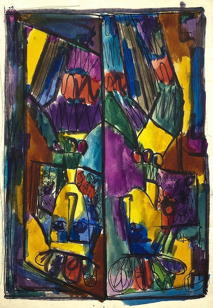 Cundo BERMUDEZ (1914-2008) Composition, 1966