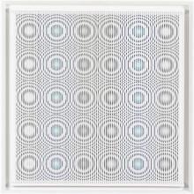 Alberto Biasi (né en 1937) Drops… dripping… to drip, 1997 Relief en PVC sur panneau Signé, titré et daté au verso 80 × 80 ×...