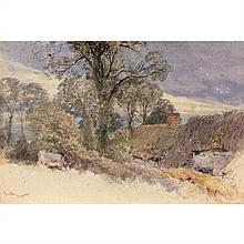 Miles Birkett Foster (Norh Shields 1825-Witley 1899) Vue de Preston dans le Sussex Aquarelle gouachée 15 × 22 cm Situé en bas à gauc...