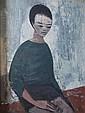 Gérard ALTMANN (1923-2012) Portrait en buste d'un jeune enfant asiatique