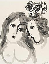 Marc CHAGALL (1887-1985) (d'après) [Couple d'amoureux]