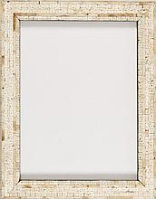 Cadre rectangulaire en marqueterie d'ivoire ancien provenant de bracelets de dot transmis de mères en filles au Rajasthan Inde XIXe ...