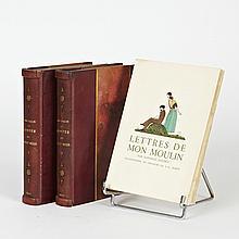 Rodolphe SALIS. Contes du chat noir. Paris, les Arts et le livre, 1927. 2 volumes in-8, demi-chagrinbordeaux à bandes, dos lisses or...
