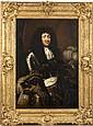 École FRANÇAISE du XVIIe siècle, atelier de Claude LEFEBVRE Portrait de Louis XIV