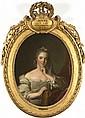 École FRANÇAISE du XVIIIe siècle, suiveur de Jean Marc NATTIER Portrait d'Henriette de France, fille de Louis XVet Marie Leszczynska