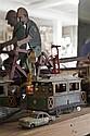 Tramway mécanique, Charles Rossignol, en tôle peinte Etoile/Porte Maillot.