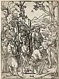 Martyre de saint Sébastien. Bois gravé. À vue : 275 x 375. Le Blanc (Hans Sebald Lautensack) 10 ; Nagler (Heinrich Lautensack - plan...
