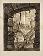 Giambattista Piranesi (1720-1778) La Grande place. Carceri, pl. 4. 1749. Eau-forte. 410 x 540. Hind 4 ; Robison 31. Superbe et rare ...