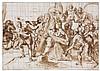 Attribué à Cesare NEBBIA (Città della Pieve 1581-Assise 1668) Le Christ portant sa croix Plume et encre brune, lavis brun sur traits...