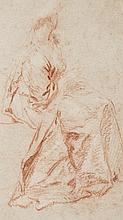 Nicolas LANCRET (Paris 1690–1743) Etude de femme assise Sanguine 15,5 × 9 cm