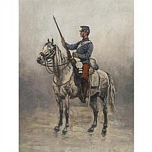 Edouard Detaille (Paris 1848-1912) Soldat Panneau 44,5 x 34 cm Signé en bas à droite Edouard Detaille