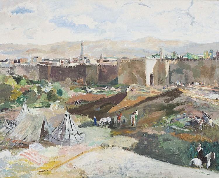 Edy LEGRAND (1892-1970) Vue de Fez