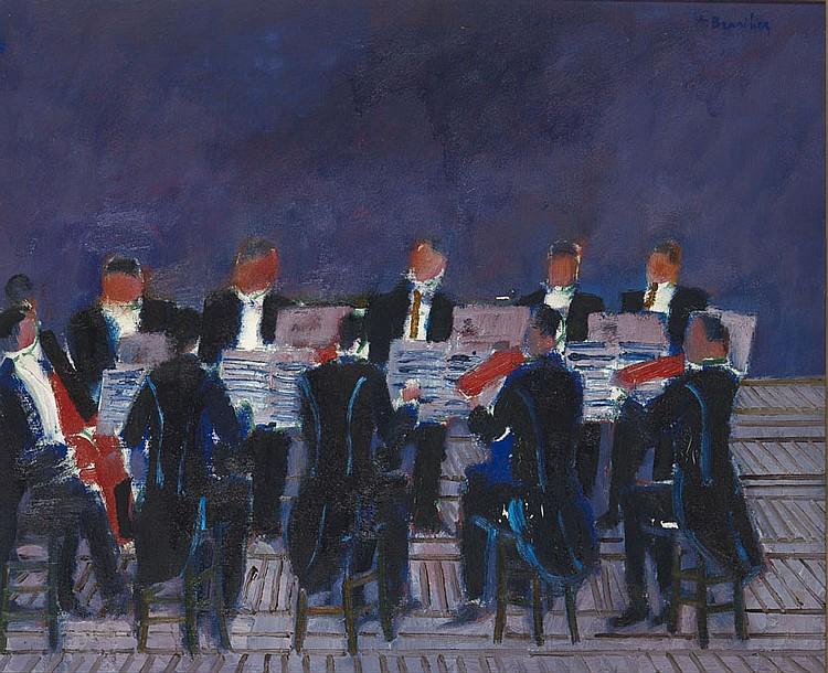 André Marie Pierre BRASILIER (né en 1929) L'Orchestre Huile sur toile Signée en haut à droite 61 x 73 cm